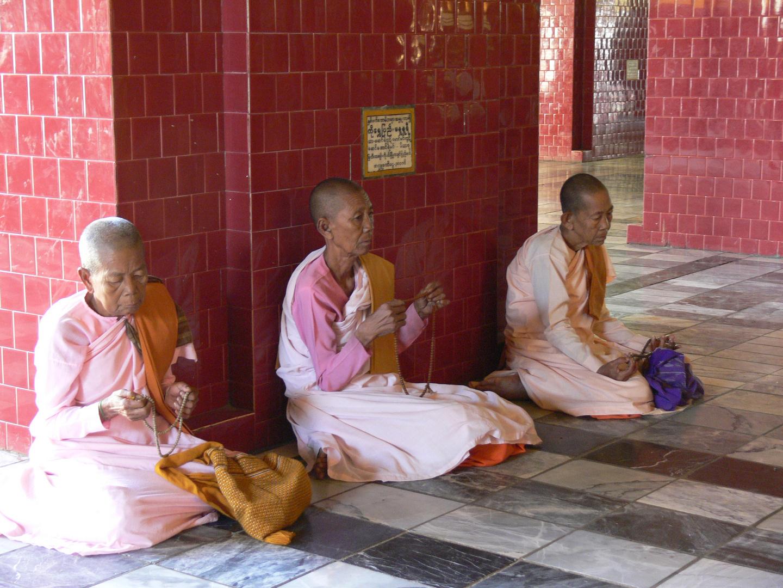 Buddhistische Nonnen im Gebet