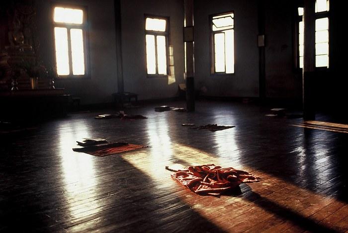 Buddhistisches Kloster in Kalaw, Morgenstimmung