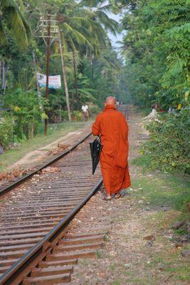 Buddistischer Mönch auf Sri Lanka