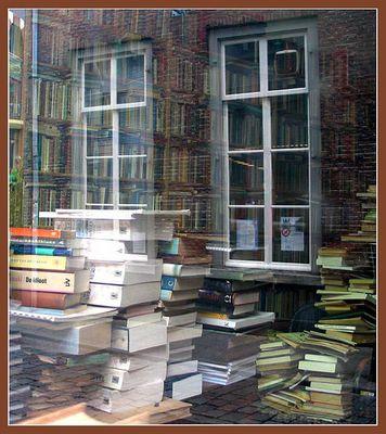 Bücher im Spiegel der Straße