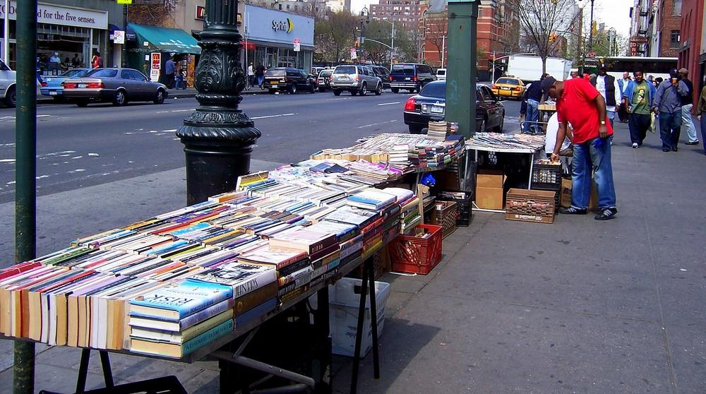 Bücherflohmarkt in NYC
