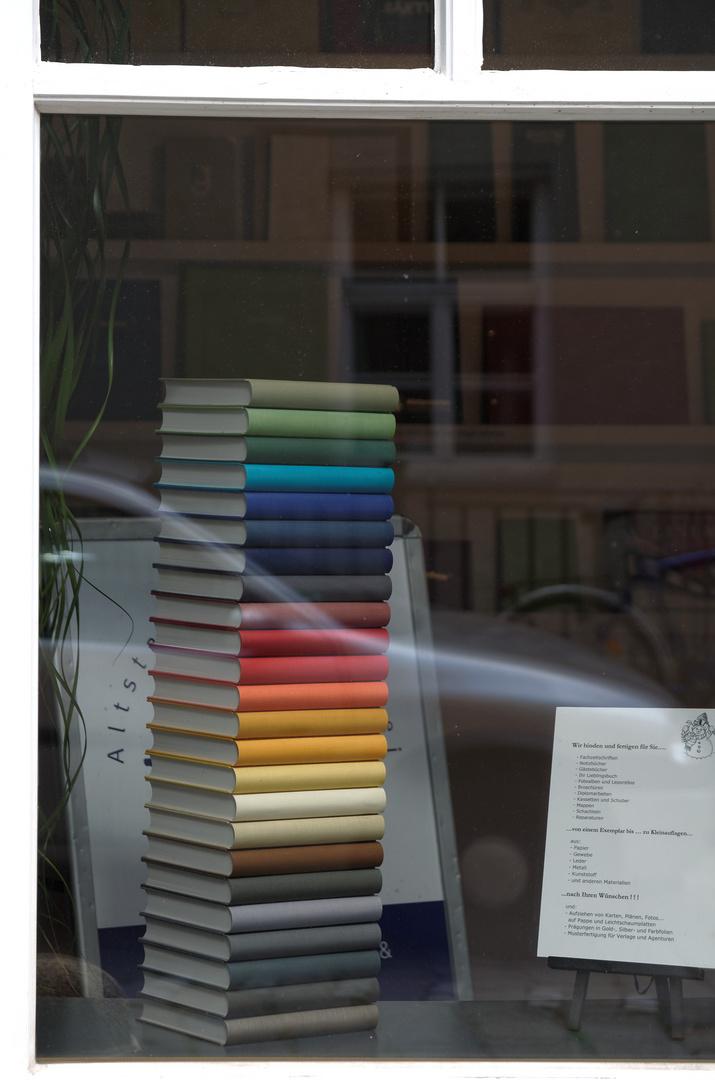 Bücherturm, Schmiedgasse, Augsburg, Juli 2013