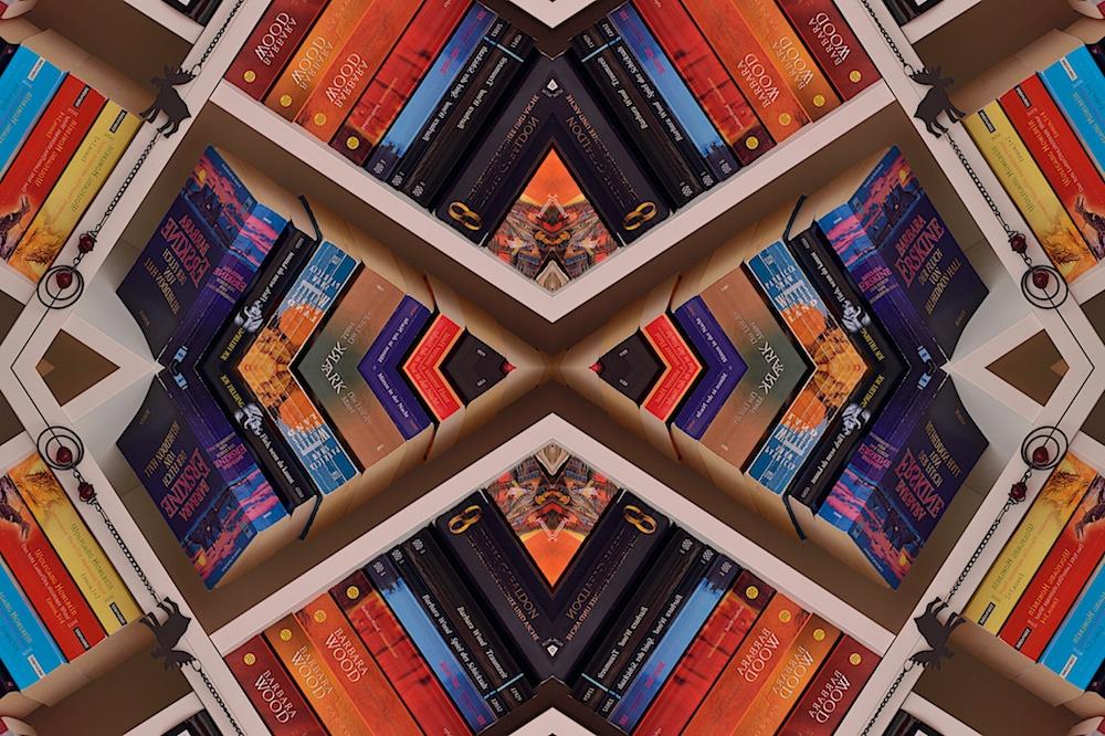 Bücherwand Kaleidoskop II