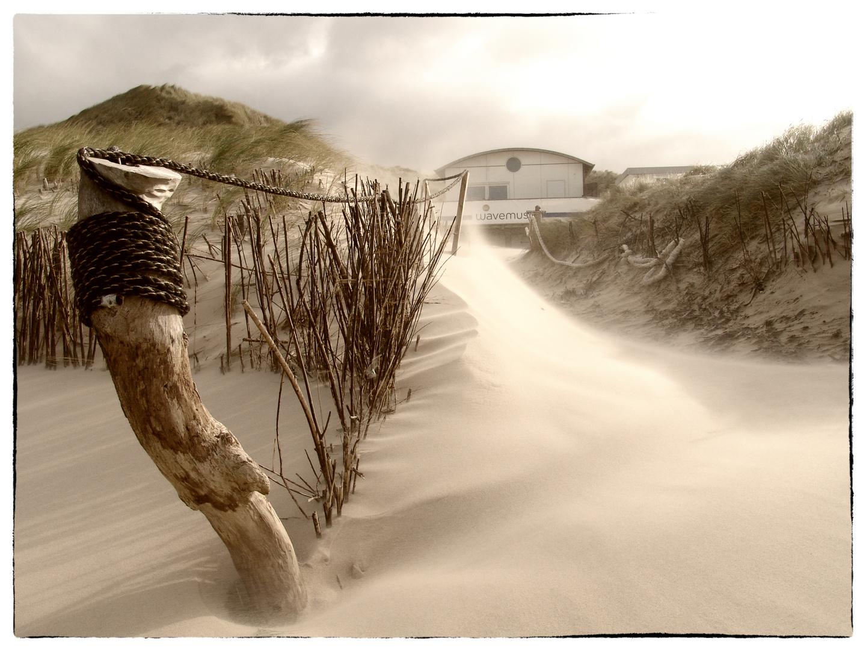 Buhne 16 im Sturm...