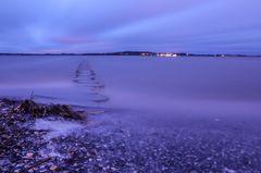 Buhnen am Stralsunder Strand - Langzeitbelichtung
