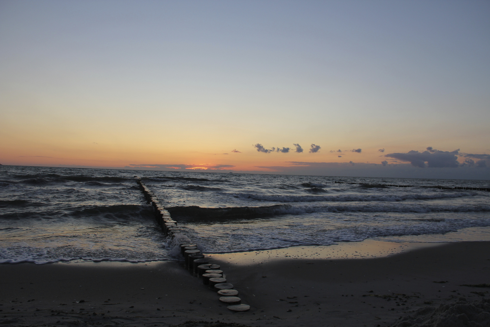 Buhnen Sonnenuntergang