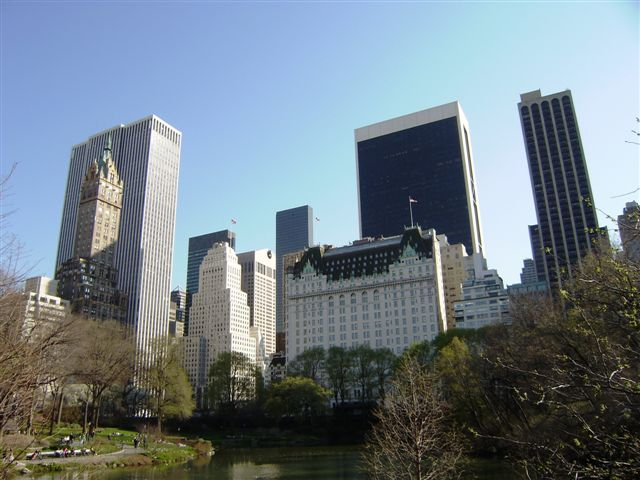 Buildings vue de Central park sud