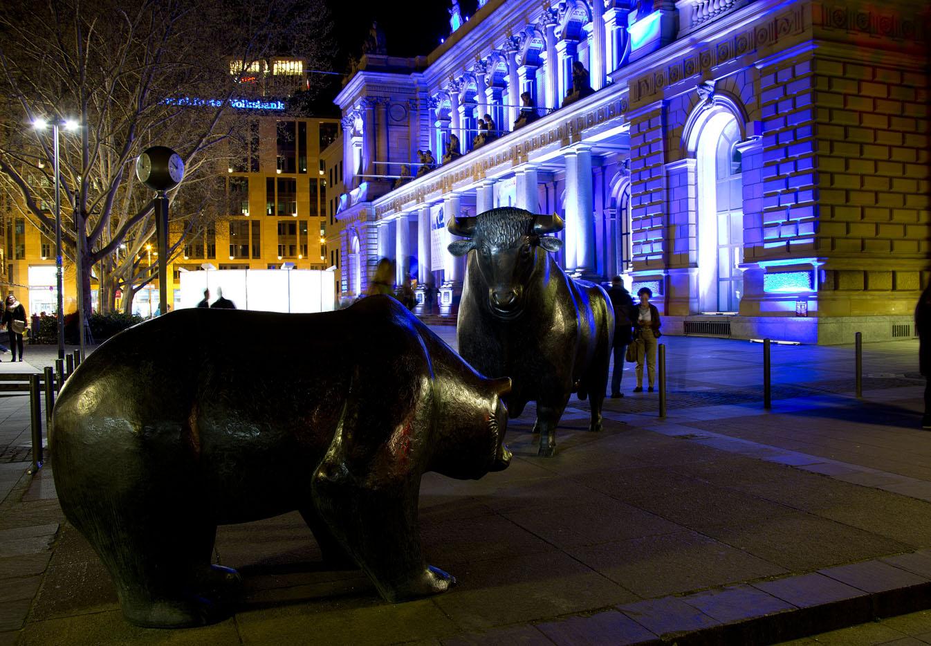 Bull and Bear Frankfurt am Main, Deutsche Börse, Luminale 2014