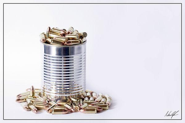 bullets on tin