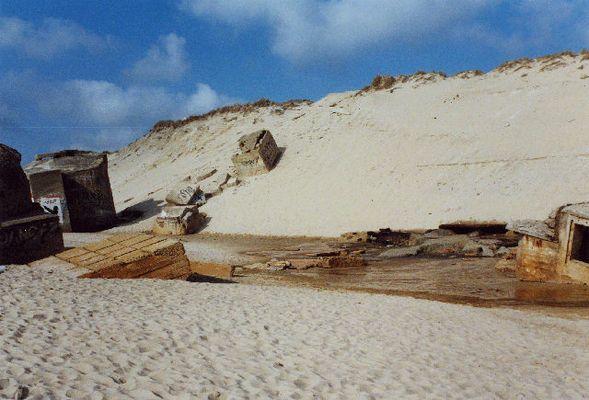 Bunker am Strand