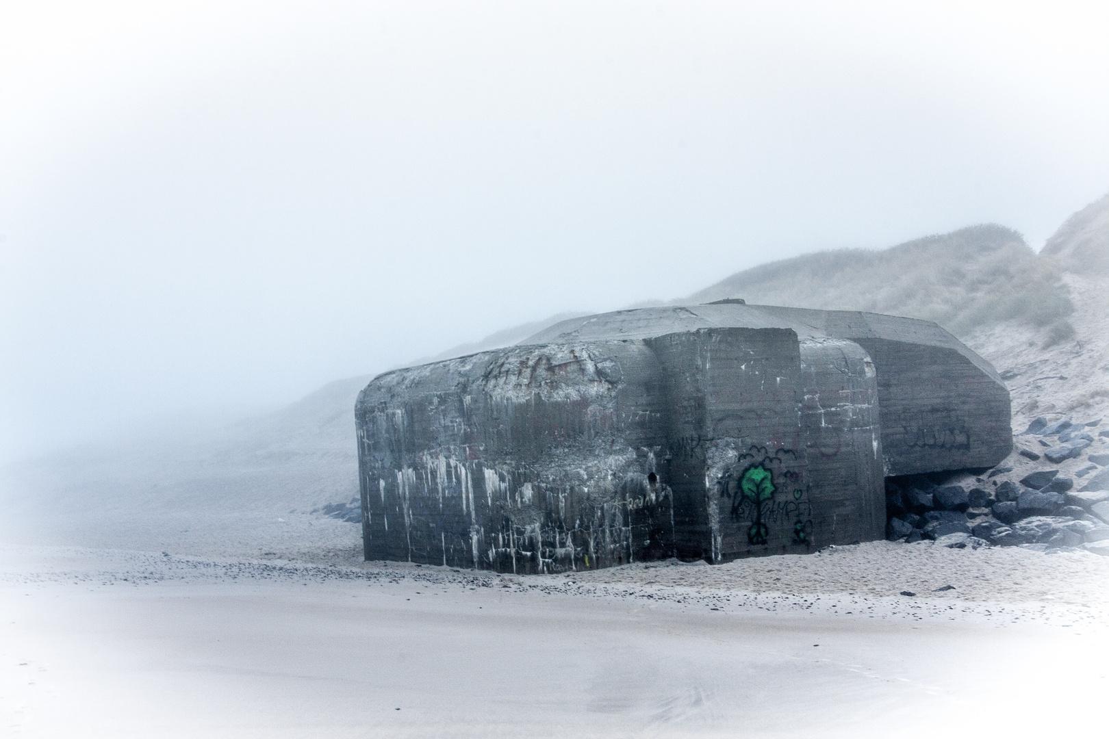 Bunker an der Nordsee in Dänemark