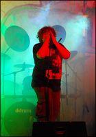 """Bunkerfest 2008 in Frankfurt Höchst, Sänger der Gruppe """"Friendly Fire"""""""