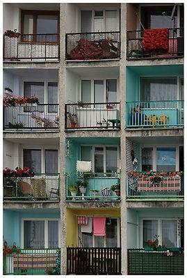 Bunte Balkone