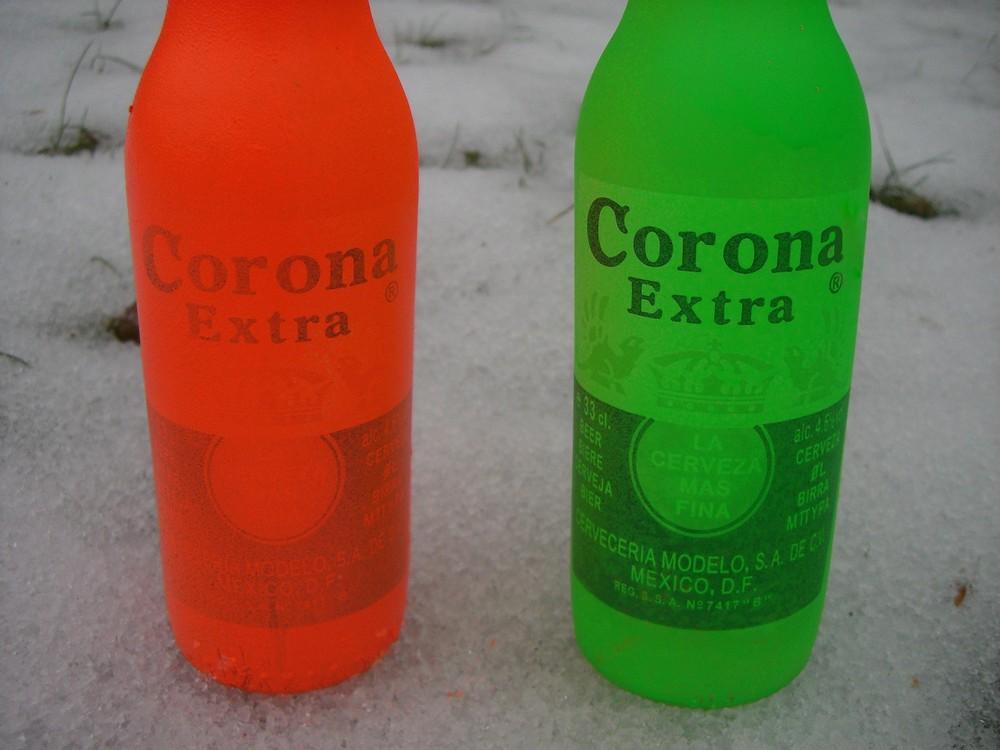 bunte flaschen