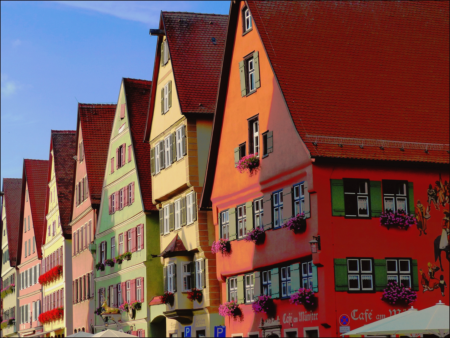 bunte Häuser in Dinkelsbühl