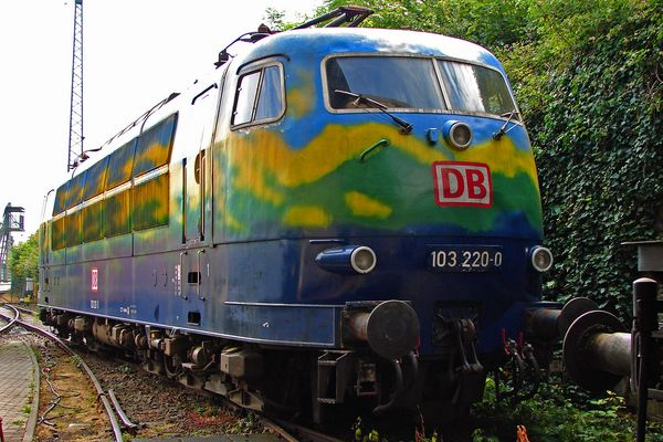bunte Lokomotive