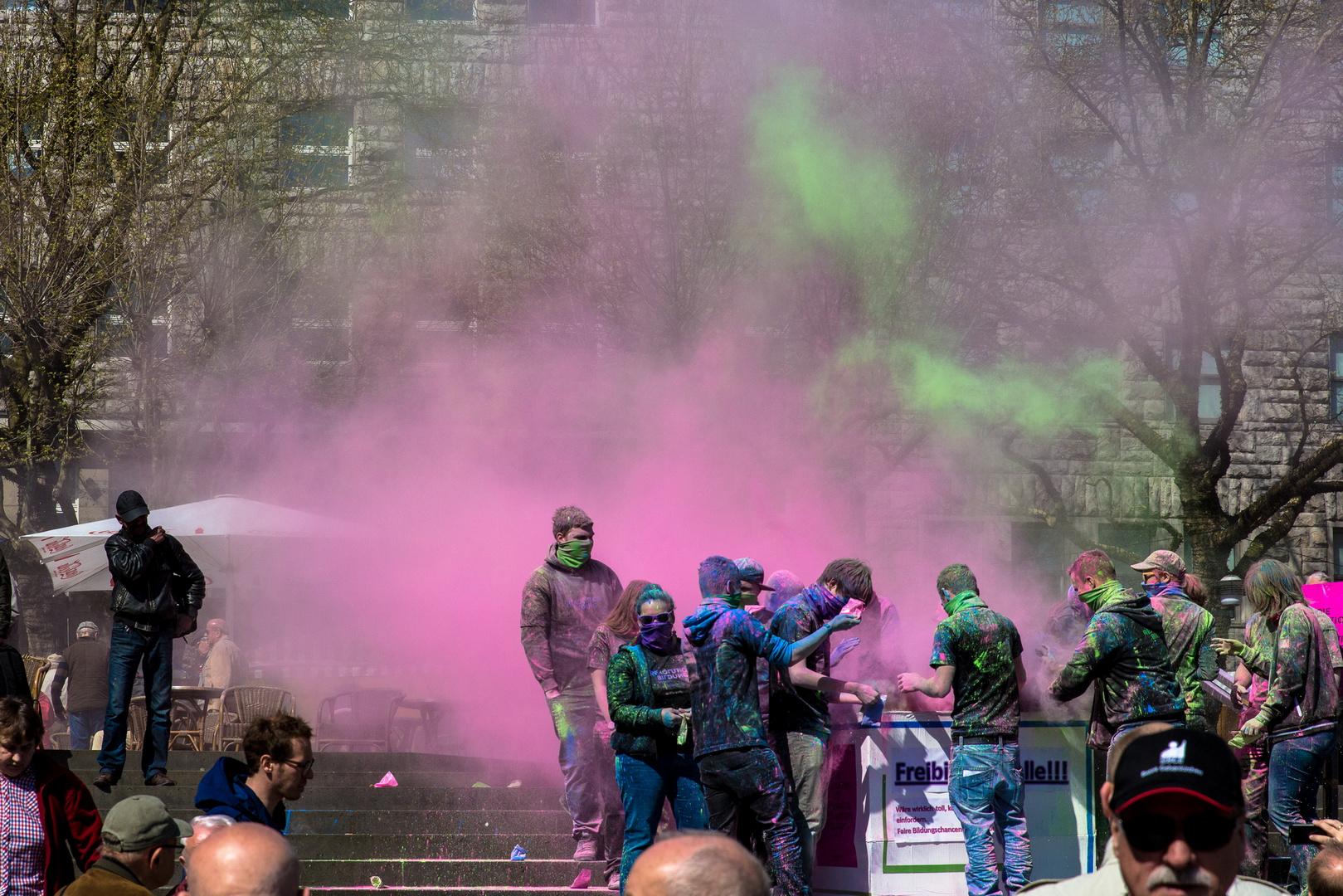 Bunte Protestaktion in Essen