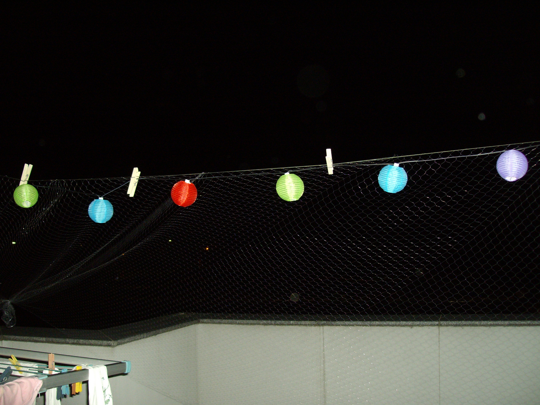 bunte SolarLampionKette