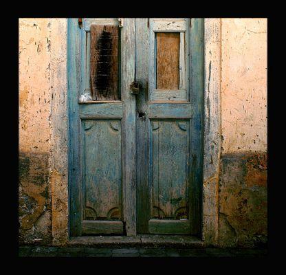 Bunte Tür