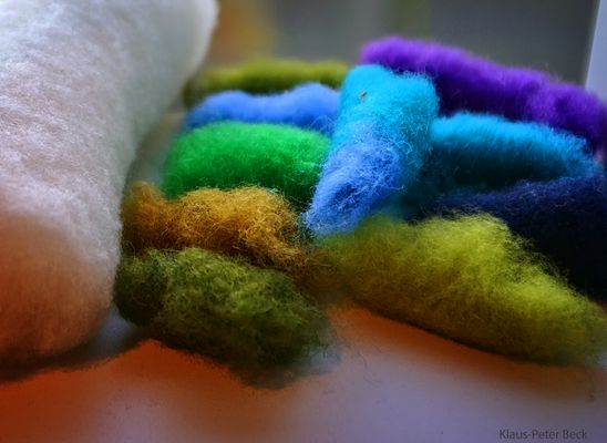 Bunte Wolle