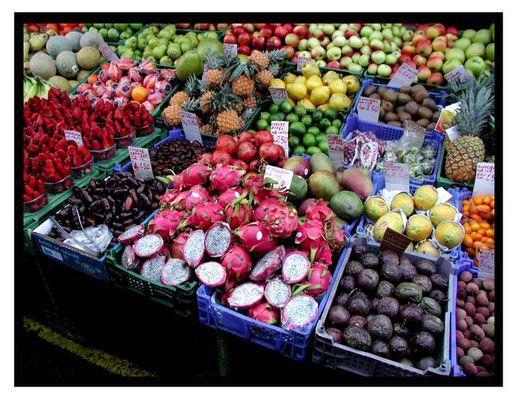 Buntes Genasche auf dem Naschmarkt