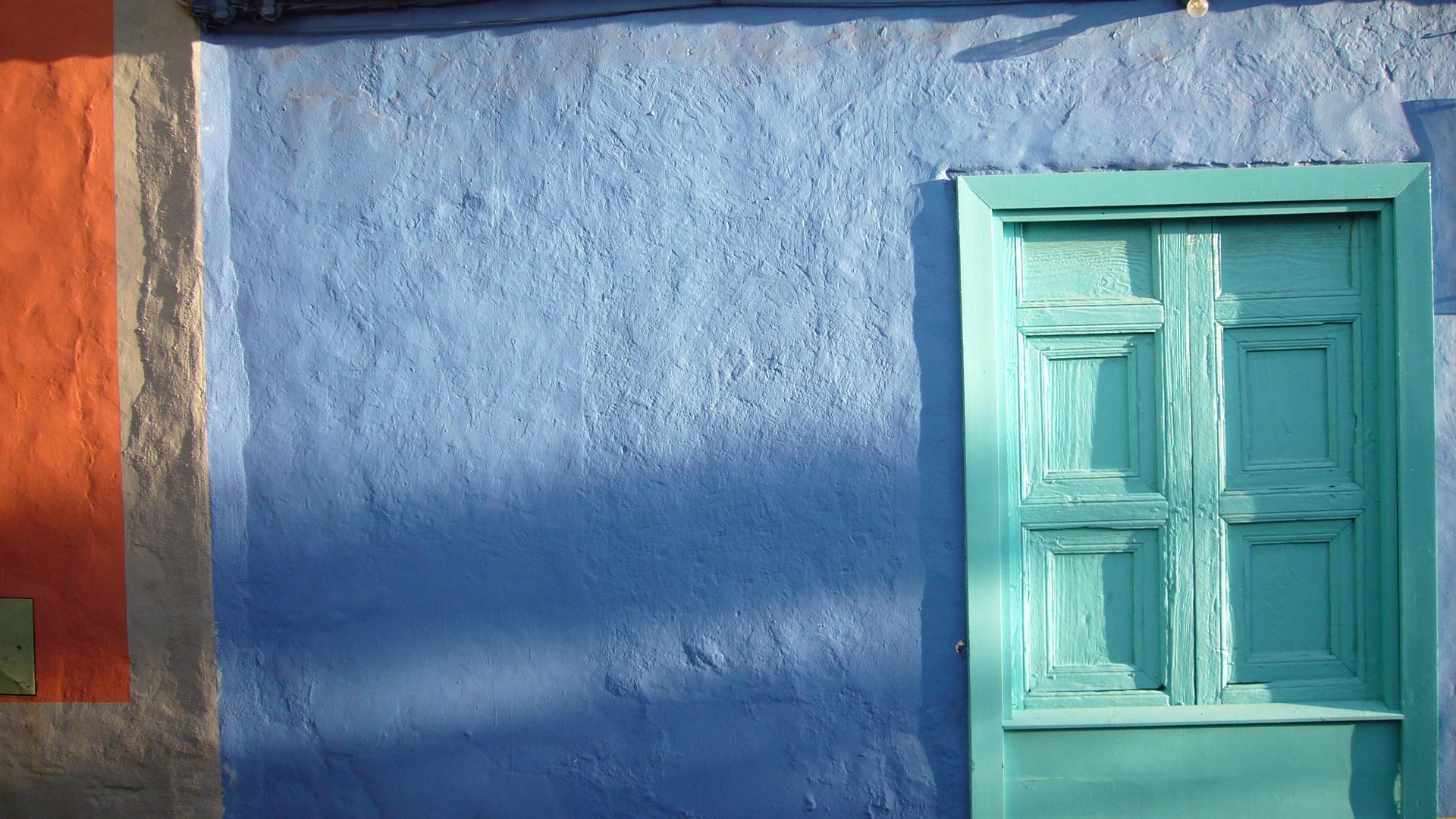 Buntes Häuserfront