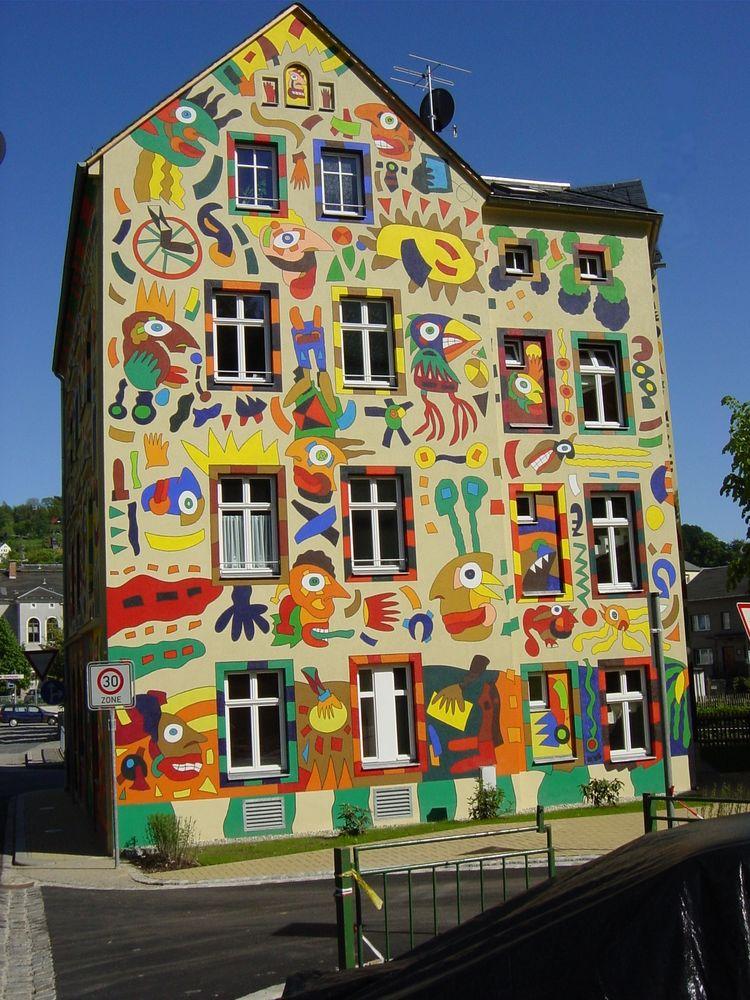 Buntes haus foto bild architektur motive bilder auf for Haus foto
