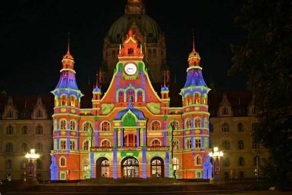 Buntes Rathaus in Hannover