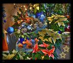 Buntes Weihnachtsblumen Durcheinander