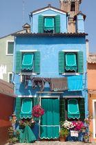BURANO - Façade blue -