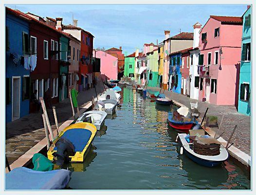 Burano in Venezia