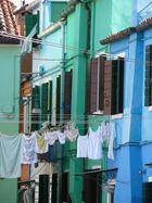 Burano - Wäsche vor Hauswand