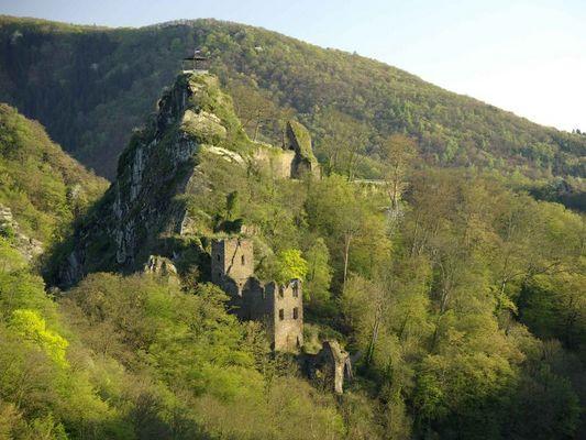 Burg Are im Frühling