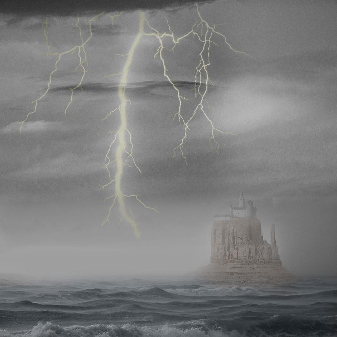 Burg auf See