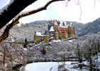 Burg Eltz im Winterschlaf.