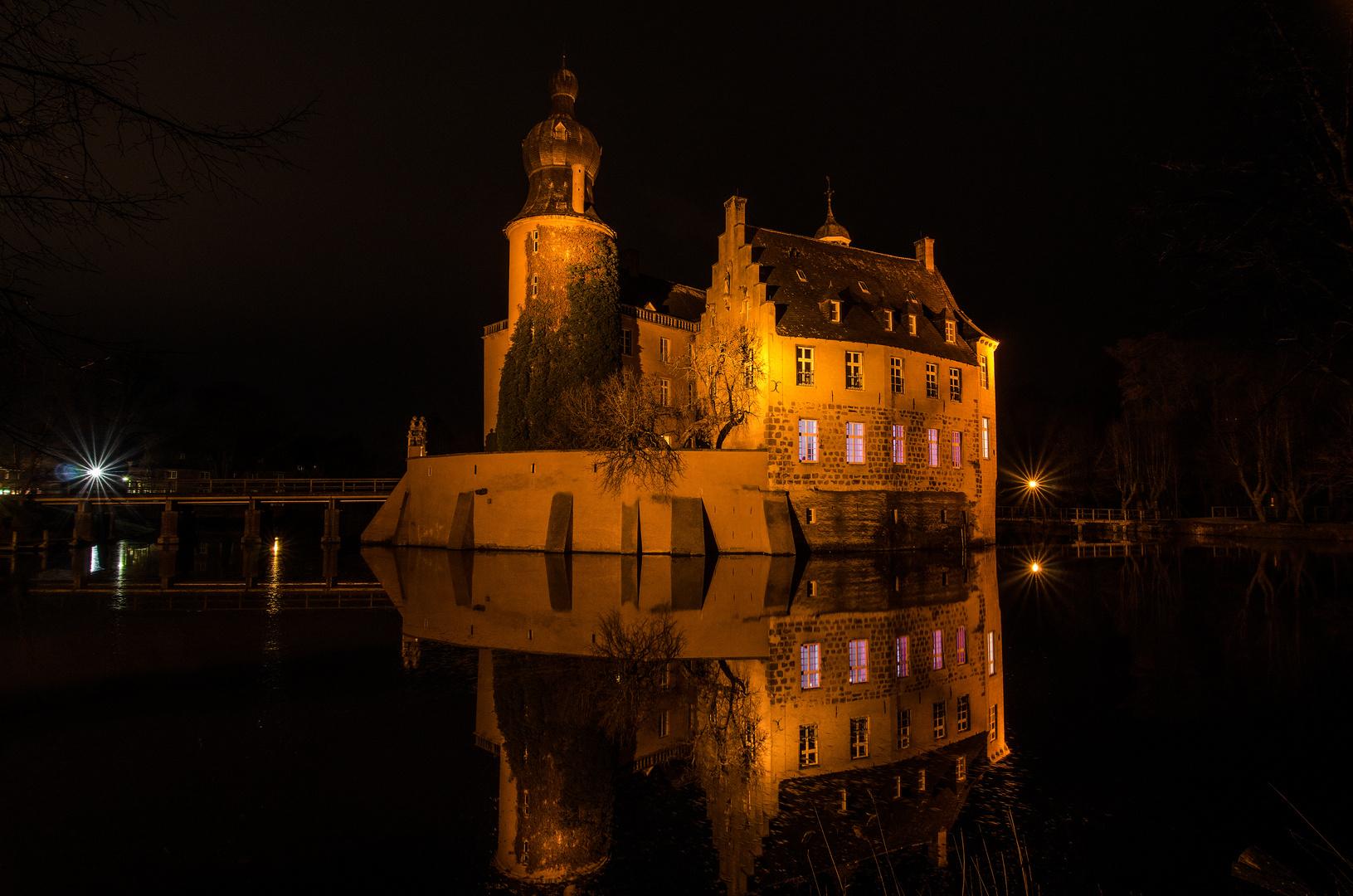 Burg Gemen bei Nacht