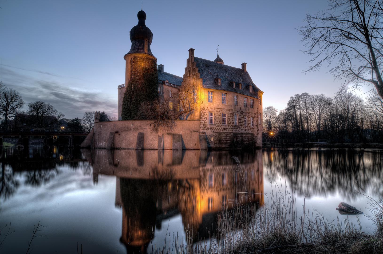 Burg Gemen im Abendlicht 2