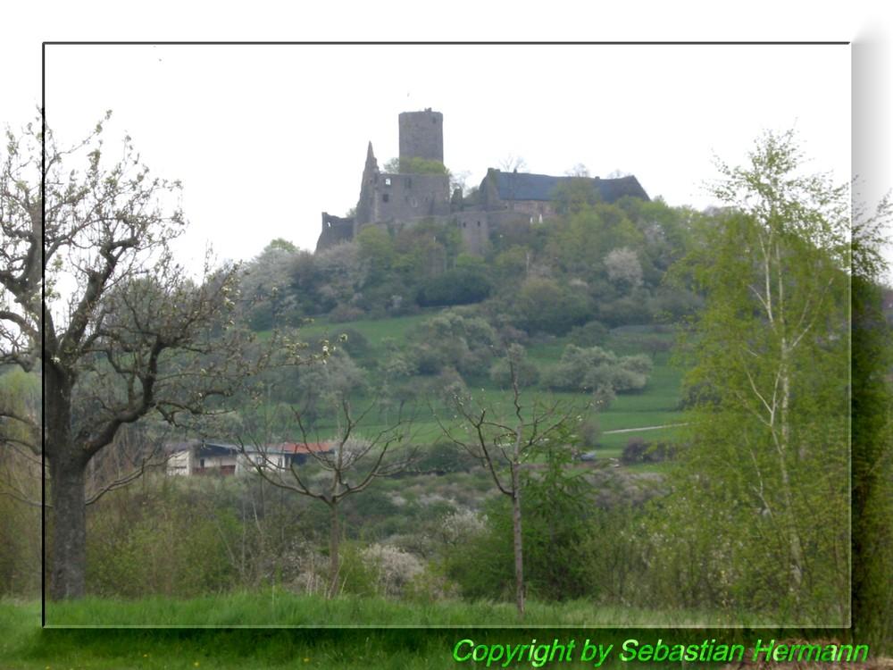 Burg Gleiberg von der Rückseite ausgesehen