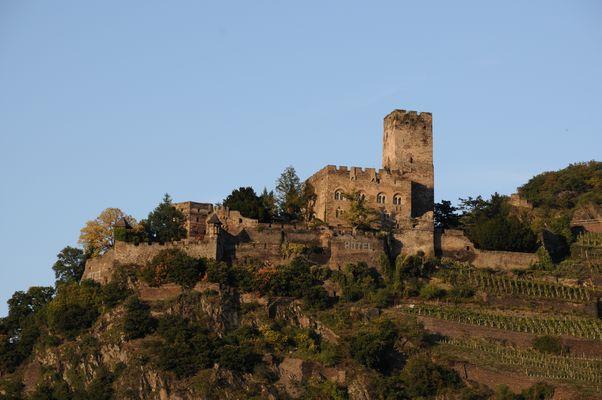 Burg Gutenfels auf der anderen Rheinseite