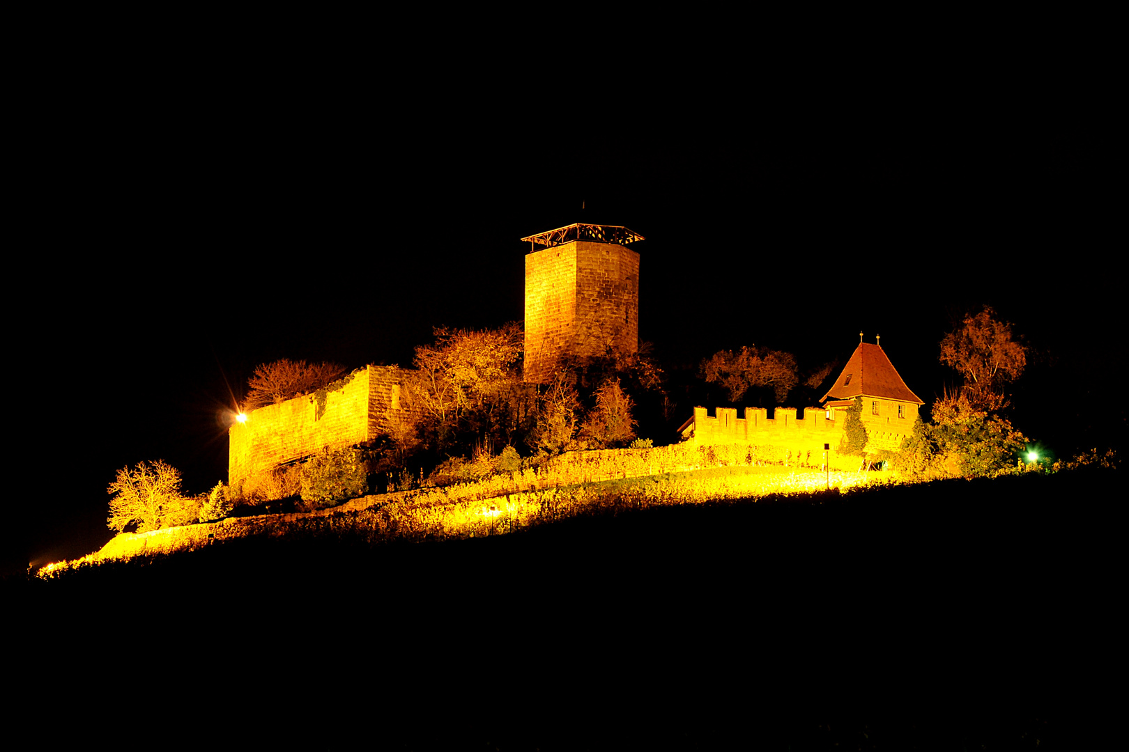 Burg Hohenbeilstein Blick aus dem Osten