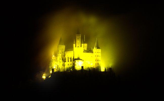 Burg Hohenzollern im Lichtschein