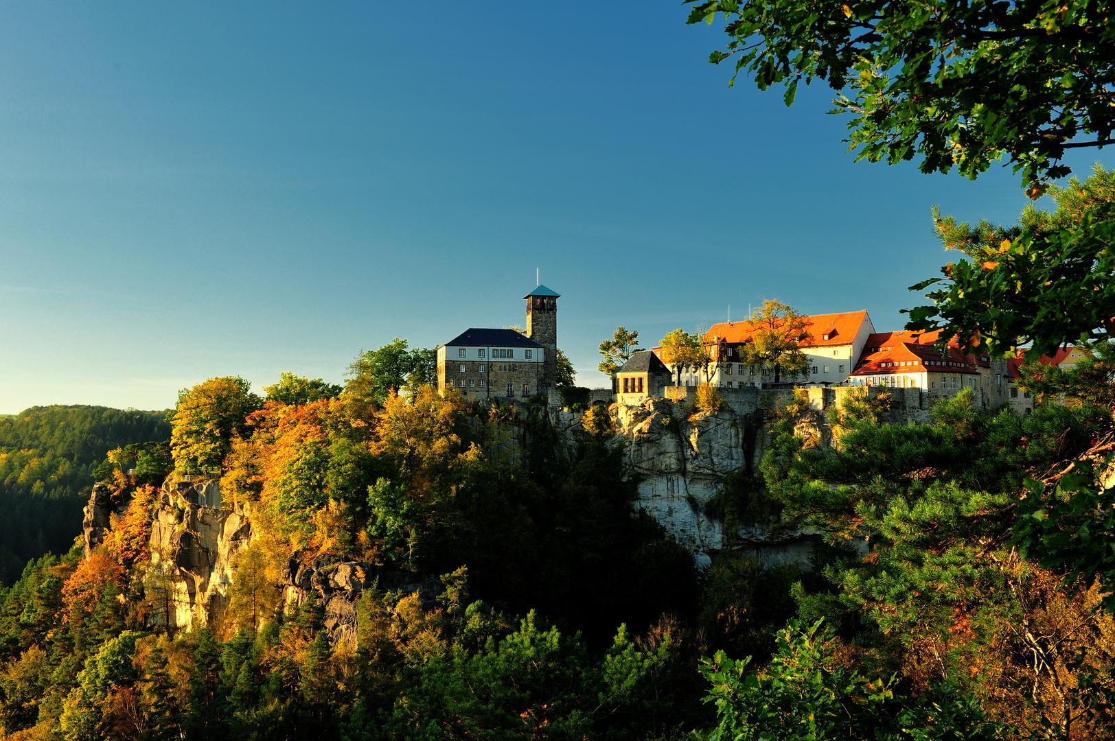 Burg Hohnstein im Herbst
