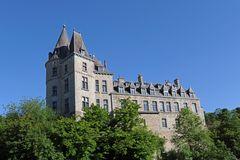 Burg in Belgien, in der Stadt Durbuy, der kleinsten Stadt der Welt