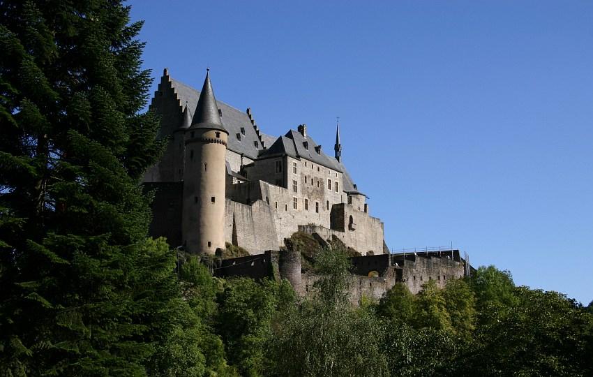 Burg in Vianden (Lux)