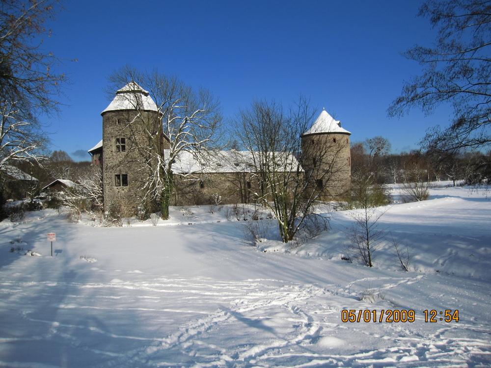Burg in Winterlichem Gewand