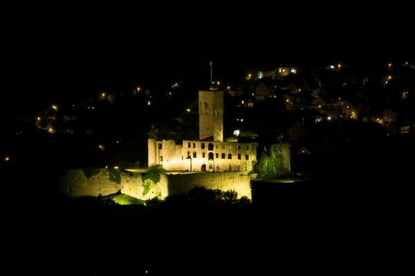 Burg Königstein bei Nacht