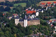 Burg Mylau aus der Luft