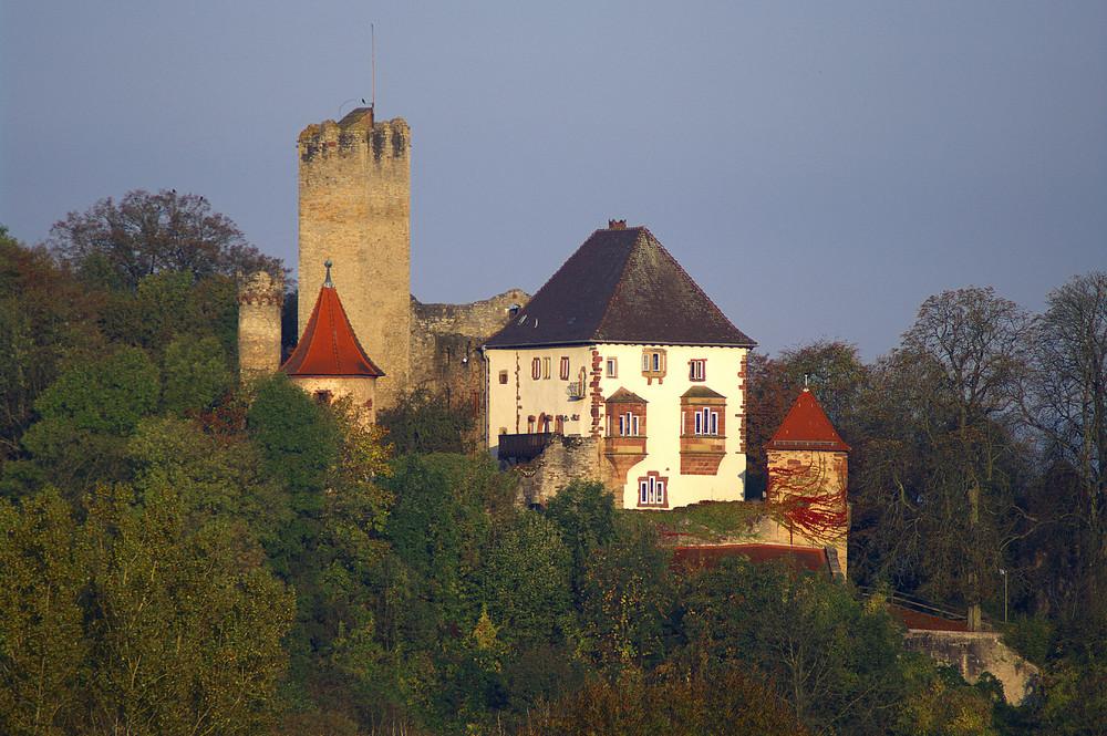 Burg Neidenstein im Morgenlicht.