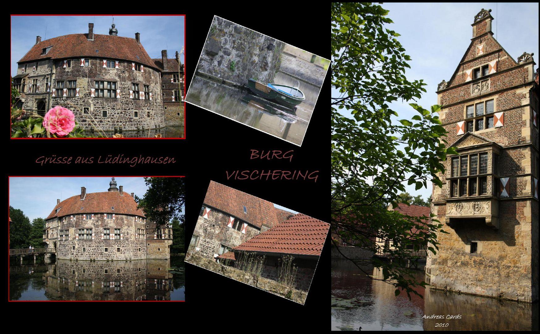 Burg Vischering in Lüdinghausen -selbstgestaltete Karte -