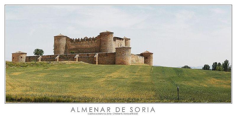 Burg von Almenar de Soria (Castilla - La Mancha, Spanien)